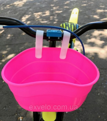 """Корзина 16-20"""" для детского велосипеда фиолетовая"""