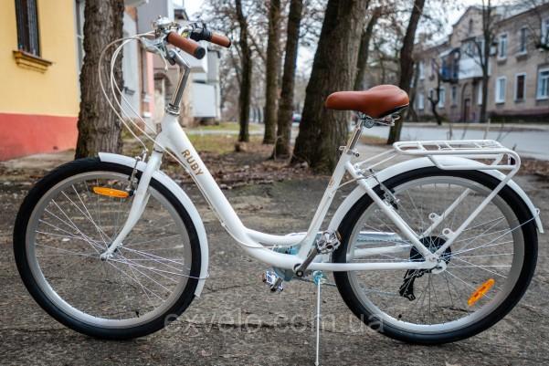 """Велосипед городской Dorozhnik RUBY 26"""" белый"""