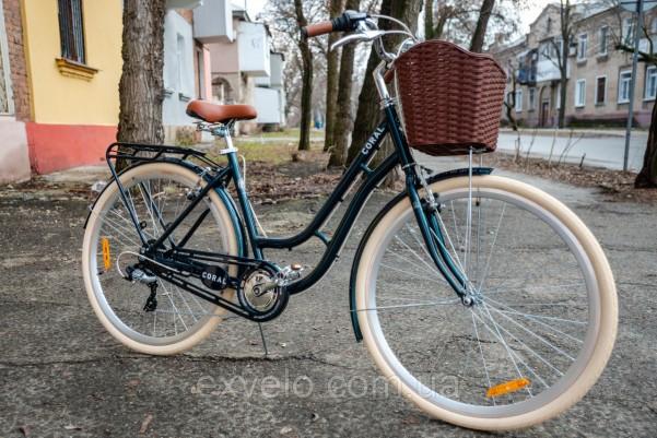 """Велосипед городской Dorozhnik CORAL 28"""" серый"""