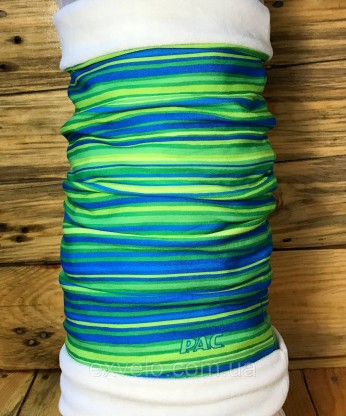Головной убор P.A.C. Twisted Fleece All Stripes Lime двухсторонний