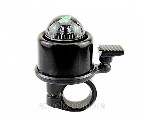 Звонок велосипедный Compass хомут 22.2-25.4 мм