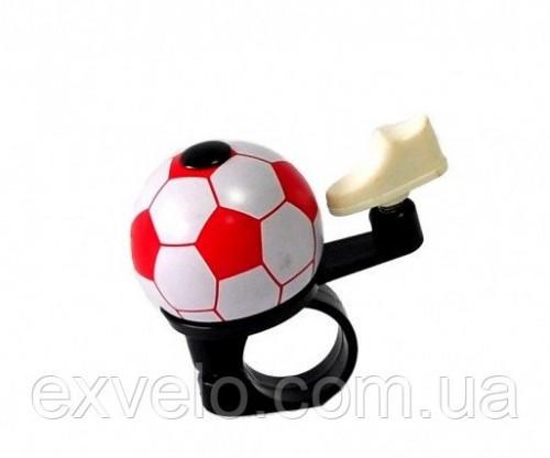 Звонок велосипедный Мячик хомут 22.2-25.4 мм