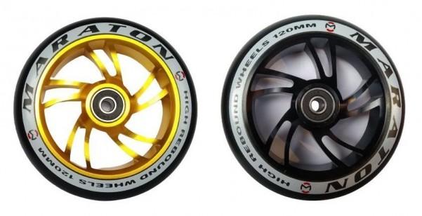 Колеса для самокатов Maraton алюминий 120 мм цвета