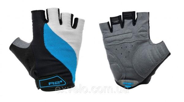 Перчатки R2 WAVE черно-бело-голубые XS