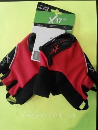 Перчатки X17 XGL-524RD красно-черные