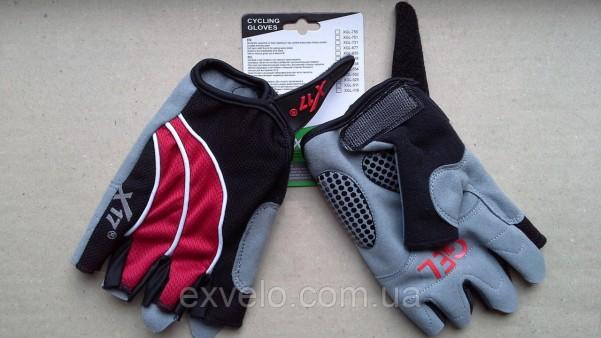 Перчатки X17 XGL-552RD гелевые красно-черные