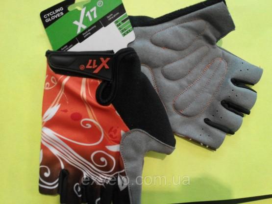 Перчатки X17 XGL-655OR гелевые оранжево-черные