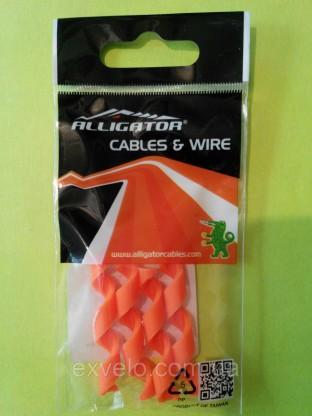 Защита рамы Alligator от трения рубашек Spiral оранжевая