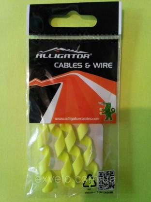 Защита рамы Alligator от трения рубашек Spiral желтая